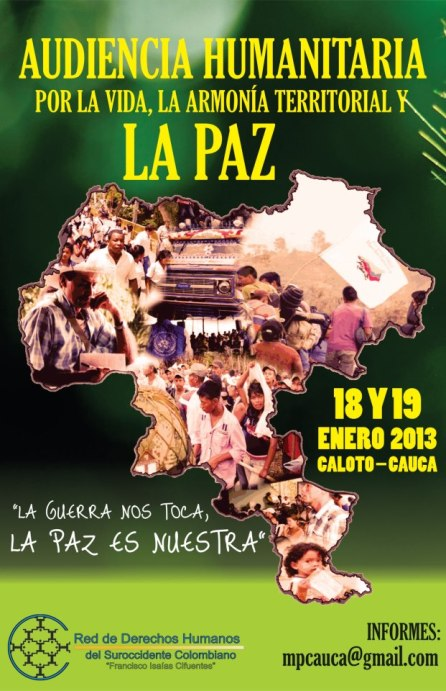 afiche Audiencia Humanitaria