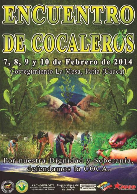 Afiche Encuentro Cocalero