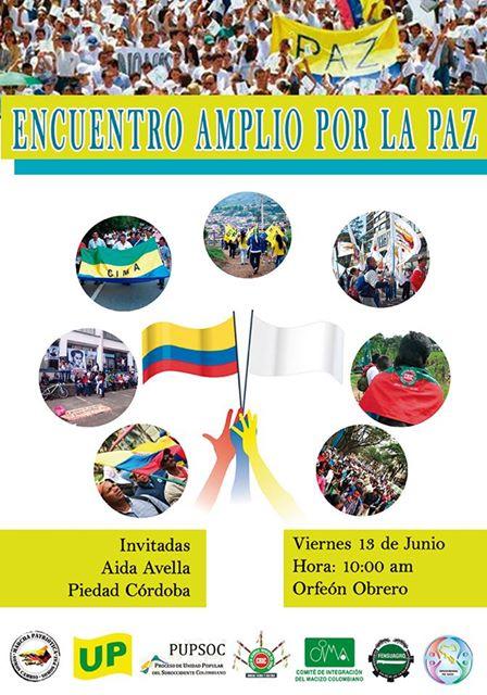 Afiche Encuentro Amplio por la Paz